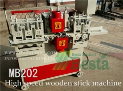 High speed wooden stick making machine